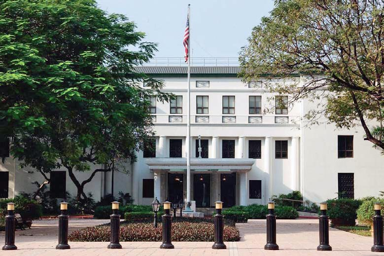 Embassy of the United States in Manila. (Photo: Wikipedia Commons)