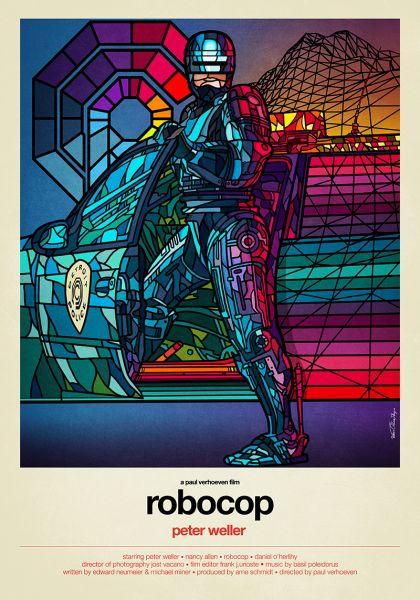 Robocop by Van Orton Design, to be featured in Alternative Movie Posters II: More Film Art From the Underground. (Photo: Van Orton Design)