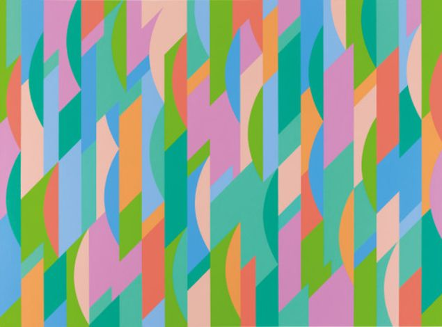 Bridget Riley, Lagoon 2, 1997. Private collection © Bridget Riley 2015. All rights reserved. (Photo: Courtesy David Zwirner, New York/London)