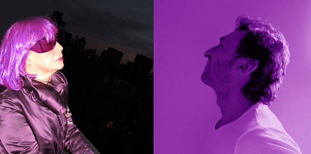 Les 2 Violets: Ultra Violet and Pascal Blondeau. (Photo: © Pascal Blondeau)