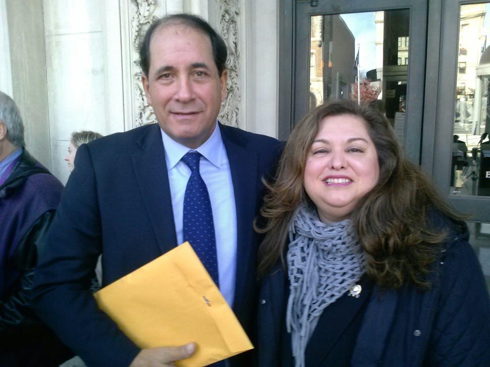 Quijano, right, with fellow bill sponsor state Senator Joe Vitale (D-19).