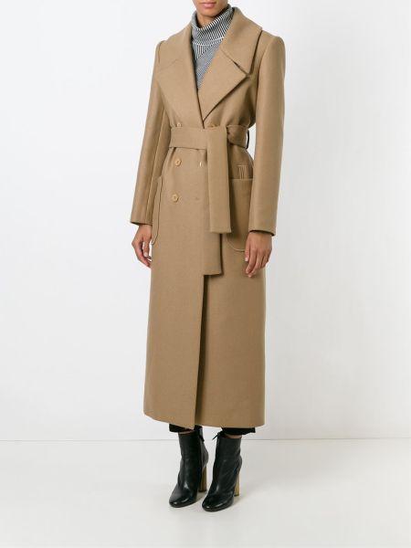 Carven Long Belted Coat, $1,214, FarFetch.com (Photo: FarFetch).