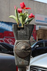 Mr. Stojak's flower pot parking meter. (Photo: Conrad Stojak)