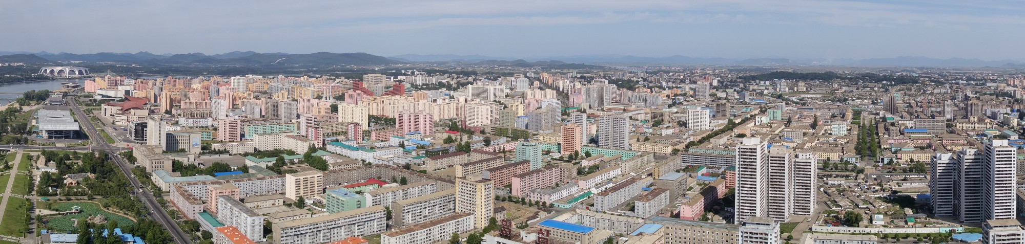 Pyongyang from above