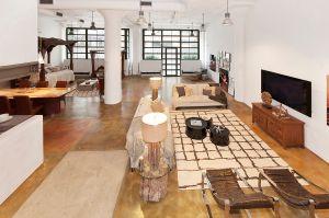 The living room at 195 Hudson Street. (Photo: Barbara Pitt)