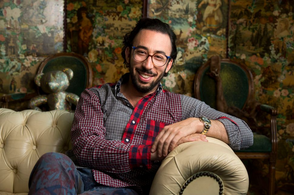 Michael Phillips Moskowitz, Global Chief Curator at eBay Inc, poses for a portrait in his apartment in New York, U.S., on June 3, 2015. Photographer: Michael Nagle