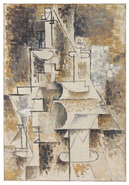 Pablo Picasso, La Carafe (Bouteille et Verre), (1911-1912). (Photo: Christie's)