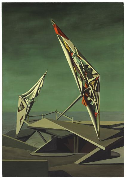 Kay Sage, Ring of Iron, Ring of Wool, (1947). (Photo: Christie's)