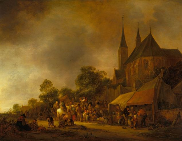 Isack van Ostade (Haarlem 1621-1649) A Village Fair, with a Church behind, (1643). (Photo: Royal Collection Trust/© Her Majesty Queen Elizabeth II 2015)