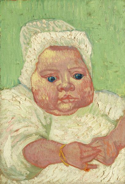 Vincent van Gogh, Le Bebe Marcelle Roulin, (1888). (Photo: Sotheby's)