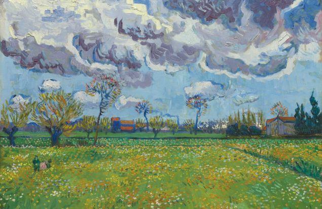 Vicent van Gogh, Paysage Sous Un Ciel Mouvemente, (1889). (Photo: Sotheby's)