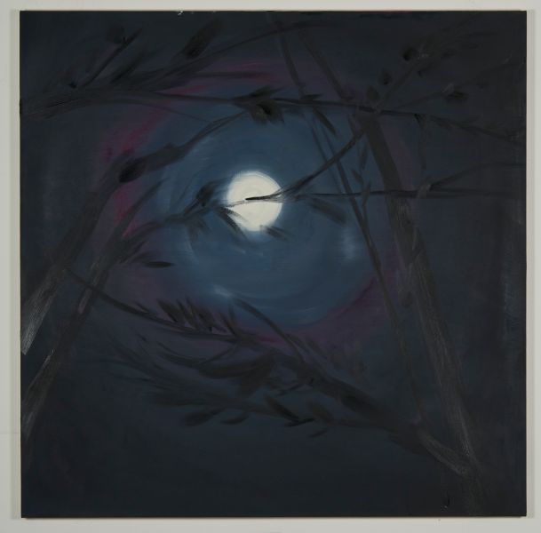 A moon painting by Anne Craven. (Photo: Courtesy of Maccarone, New York)
