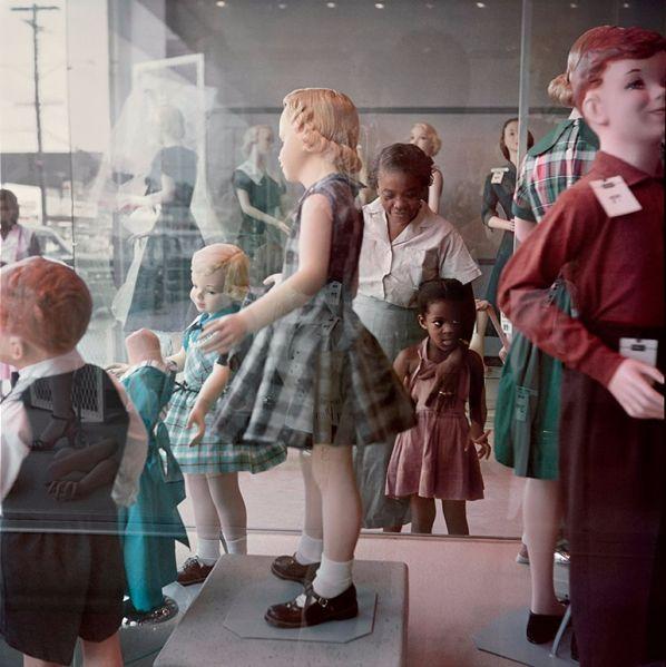 Gordon Parks, Ondria Tanner and Her Grandmother Window-shopping, Mobile, Alabama, 1956. (Photo: Courtesy Salon 94)