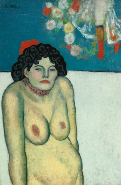 Pablo Picasso, La Gommeuse, (1901), was the sale's top lot and fetched $67.5 million. (Photo: Sotheby's)