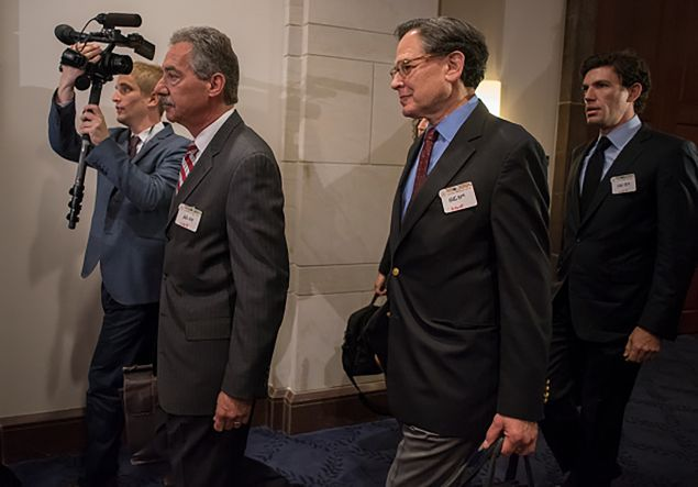 Clinton advisor Sidney Blumenthal arrives to be deposed by the House Select Committee on Benghazi in the U.S. Capitol on Tuesday, June 16, 2015. (Photo: Al Drago/CQ Roll Call)