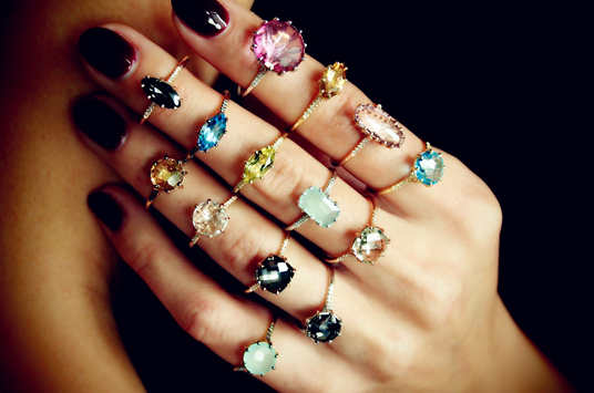 Patile Kalandjian's jewels were meant to be worn layered (Photo: Courtesy Plukka).