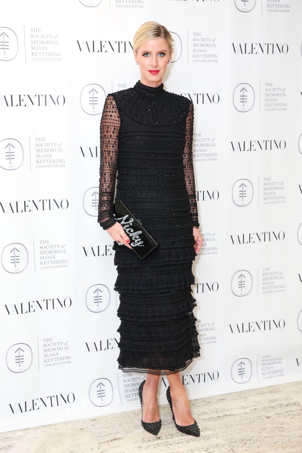 Nicky Hilton wearing Valentino (Photo: The Society of MSKCC).
