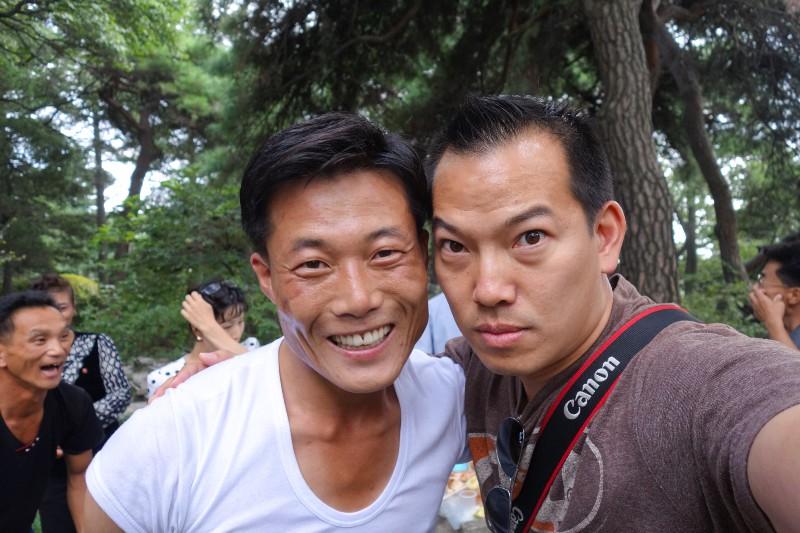 My North Korean singing partner at Moran Hill Park