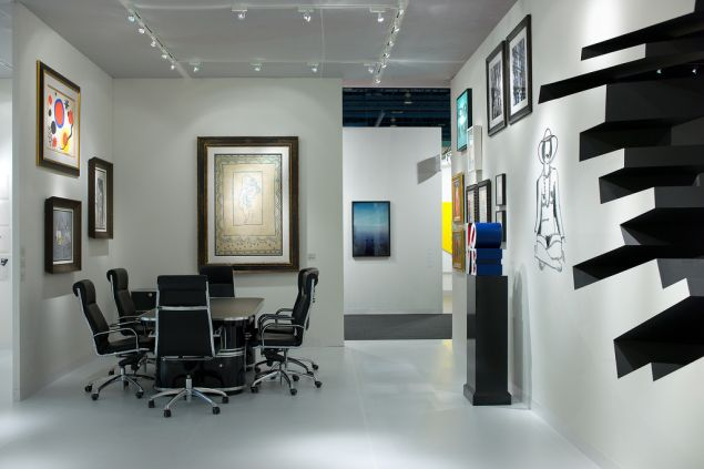 The 2010 Art Basel Miami booth of Galerie Gmurzynska, designed by Zaha Hadid Architects.