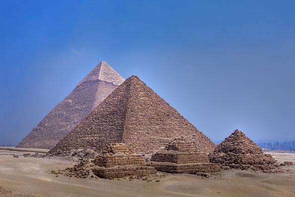 Pyramids of Giza, Cairo, Egypt (Photo by Reinhard Dirscherl/ullstein bild via Getty Images)