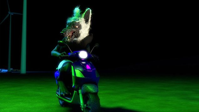 TakeshiMurata, OM Rider, 2013. Video still. (Image: Courtesy the artist and Salon 94, New York)