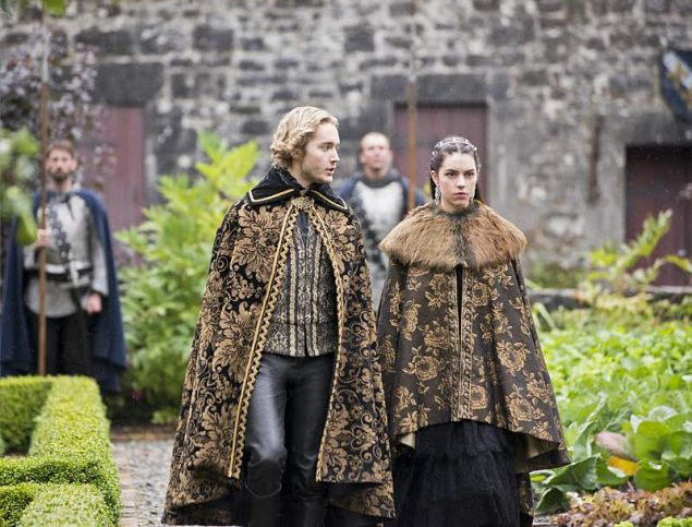 "Photo 4: Mary and Francis custom made brocade capes Reign -- ""Drawn and Quartered"" -- Image Number: RE202b_011b.jpg -- Pictured (L-R): Toby Regbo as King Francis II and Adelaide Kane as Mary, Queen of Scotland and France -- Photo: Bernard Walsh/The CW -- © 2014 The CW Network, LLC. All rights reserved."