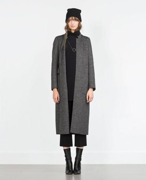 Zara Handmade long coat, $279, Zara.com (Photo: Zara).