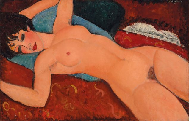 Amedeo Modigliani's Nu couché (Reclining Nude). (Photo: Courtesy Christie's)