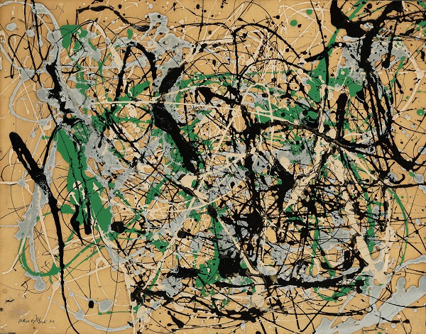 Jackson Pollock's Number 17 from 1949. (Photo: Courtesy of Sotheby's)