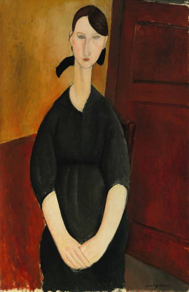 Paulette Jourdain, by Amedeo Modigliani. (Photo: Courtesy Sotheby's)
