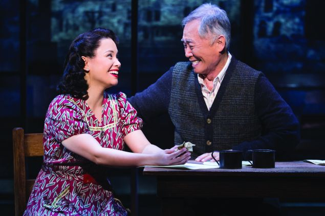 Lea Salonga and George Takei in Allegiance. (Photo: Matthew Murphy)