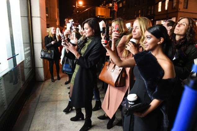 The crowd of editors at the Barneys launch (Photo: Courtesy Barneys New York).