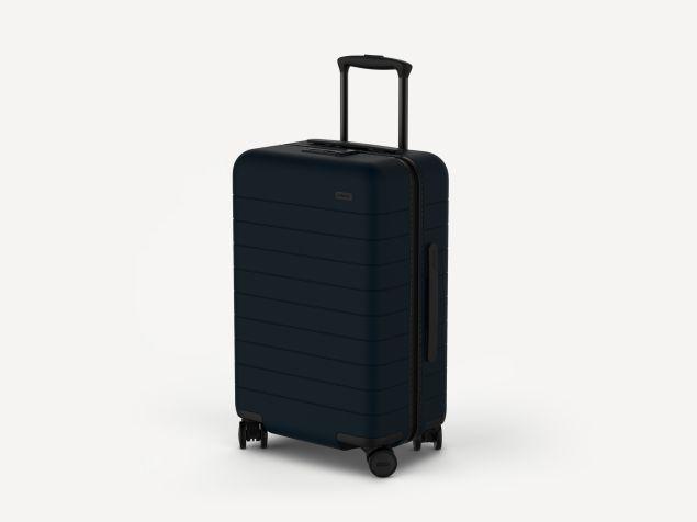 The blue Away suitcase (Photo: Courtesy Away).