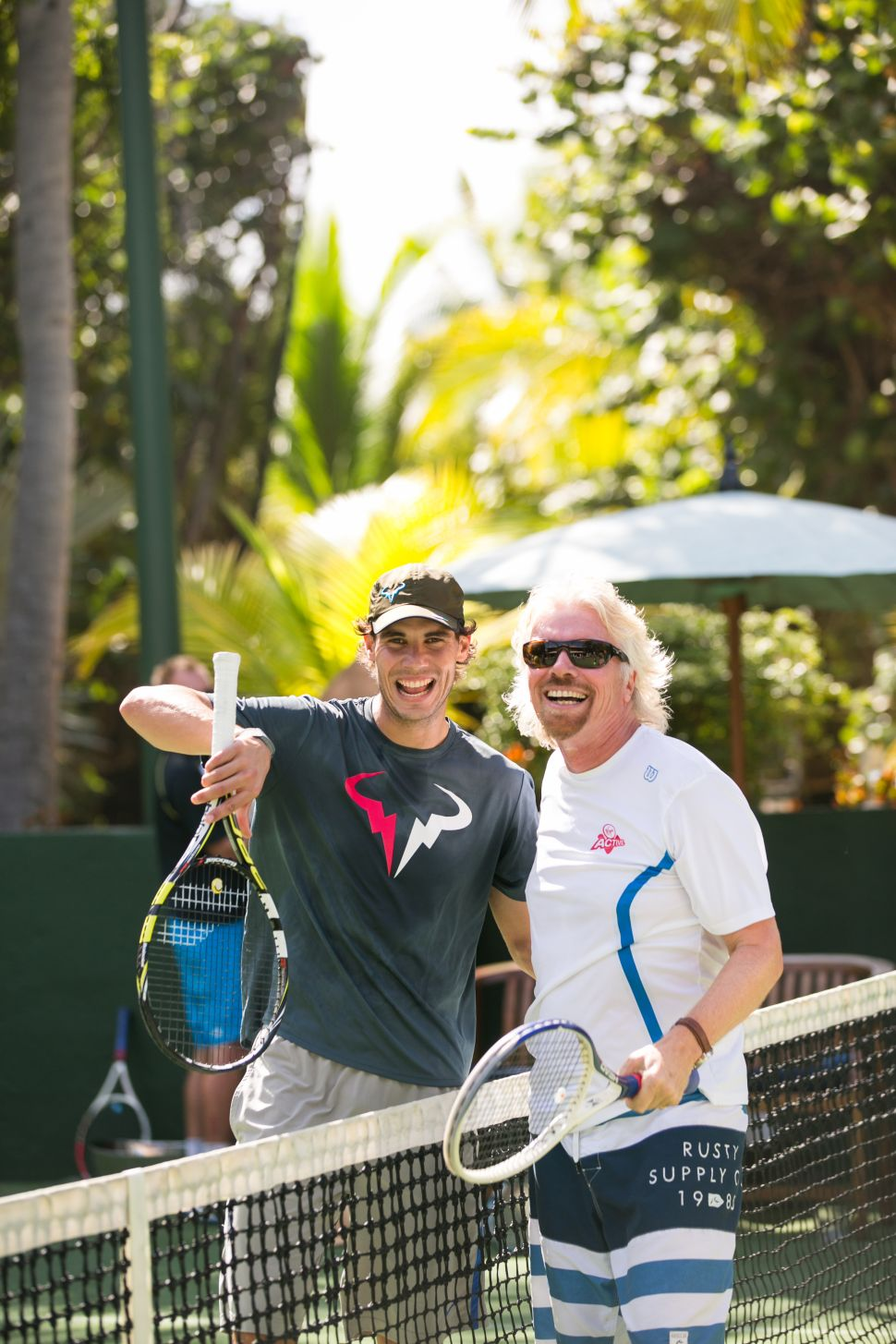 Rafael Nadal, Richard Branson (Photo: Necker Cup).