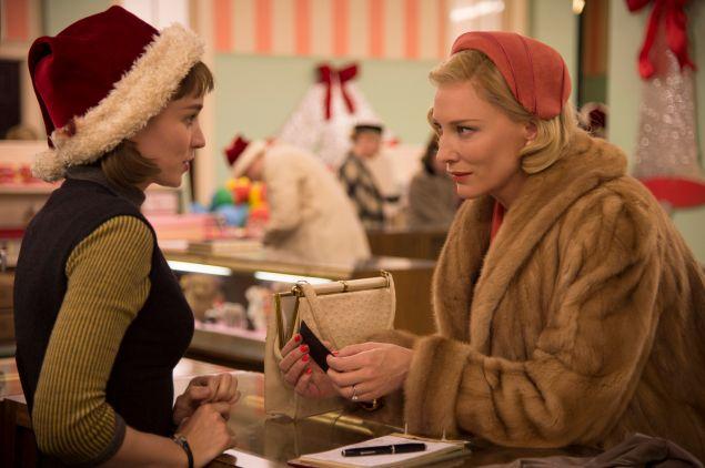 Rooney Mara, left, and Cate Blanchett in Carol.