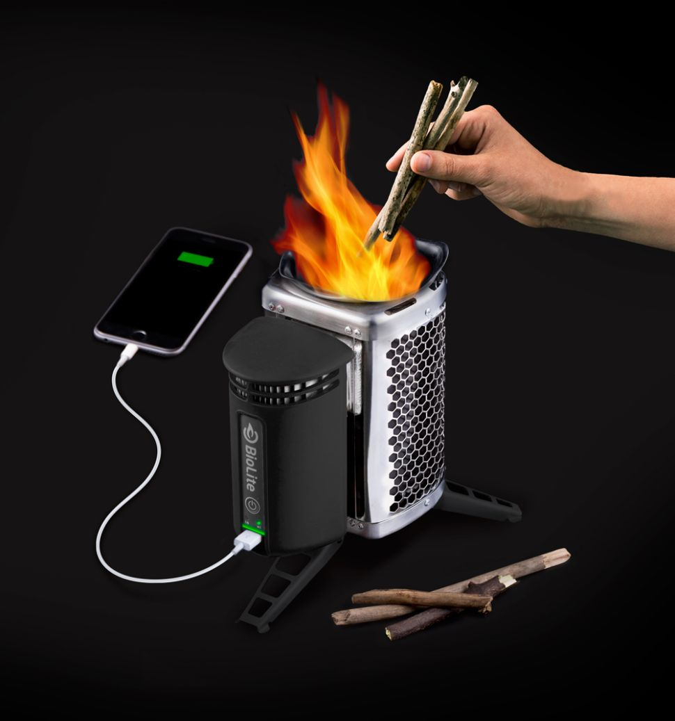 Cabron CampStove, limited edition, to mark the company's complete carbon offset. (Photo: BioLite)
