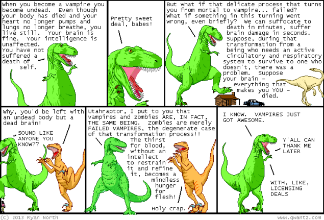 A dinosaur comic. (Source: Qwantz.com)