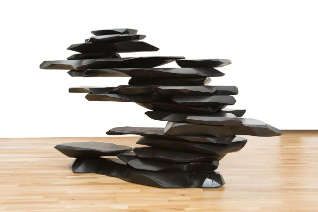 Christina Grajales started out as the director of the well-regarded 1950 Gallery in New York, and opened her own gallery in 2000. Console by Stephen Bishop is among the works she's bringing to Miami, where she'll also have an array of obsidian-carved works by Gloria Cortina on exhibit.(PHOTO: Courtesy Cristina Grajales Gallery)