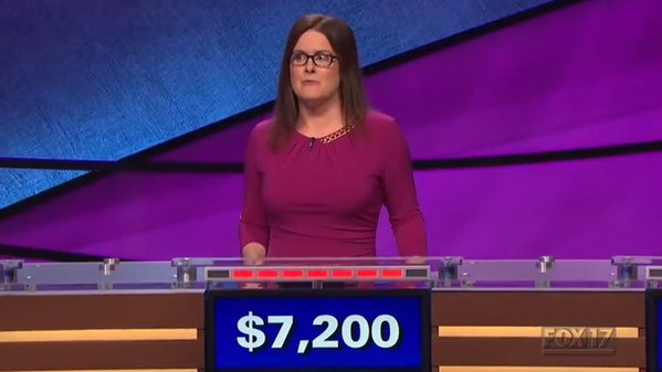 Laura Ashby taught the world what uptalking was during her stint on 'Jeopardy' this week. (Photo: Twitter)