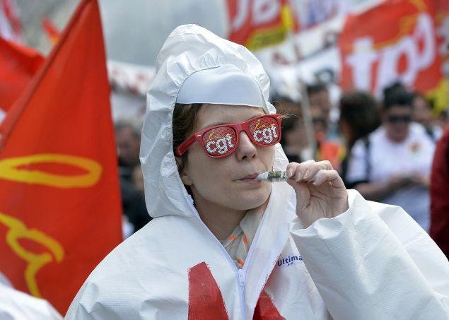 FRANCE-ECONOMY-LABOUR-POLITICS-PROTEST
