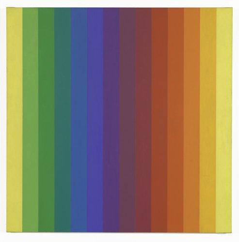 Ellsworth Kellly's Spectrum I, 1953. (Courtesy: SFMOMA)