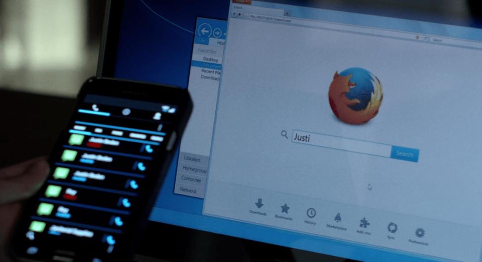 "One of Firefox's cameos in Jessica Jones's episode 13, ""AKA Smile."" (Screenshot: Netflix)"
