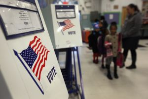 Voting booths in Manhattan. (Photo: John Moore for Getty Images)