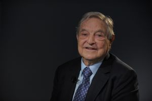 George Soros at the World Economic Forum (WEF). (Photo: Eric Piermont/Getty Images)