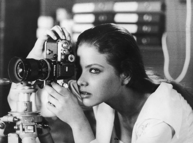 circa 1980: A female photographer. (Photo by Keystone/Getty Images)