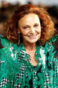 NEW YORK, NY - SEPTEMBER 07: Designer Diane von Furstenberg appears on the runway at the Diane Von Furstenberg fashion show during Mercedes-Benz Fashion Week Spring 2015 at Spring Studios on September 7, 2014 in New York City. (Photo by Peter Michael Dills/Getty Images)