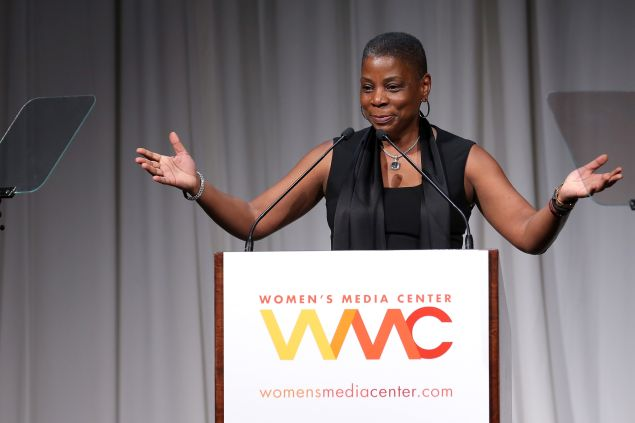 Ursula M. Burns speaks onstage at the 2014 Women's Media Awards (Photo by Jemal Countess/Getty Images for The Women's Media Center)