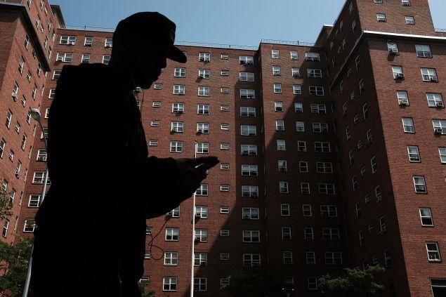 An East Harlem public housing development. (Photo: Spencer Platt for Getty Images)
