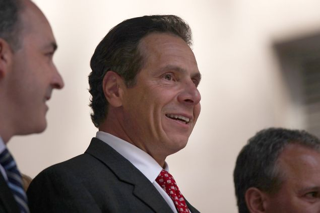 NEW YORK, NY - JULY 22: Governor Andrew M. Cuomo attends a rally for a $15 minimum hourly wage on July 22, 2015 in New York City. A panel appointed by Cuomo recommended on Wednesday that the minimum wage be raised for employees of fast-food chain restaurants throughout the state. The panel recommended that the $15 rate be phased in by December 31, 2018 for New York City and by July 1, 2021 for the rest of the state. (Photo by Spencer Platt/Getty Images)