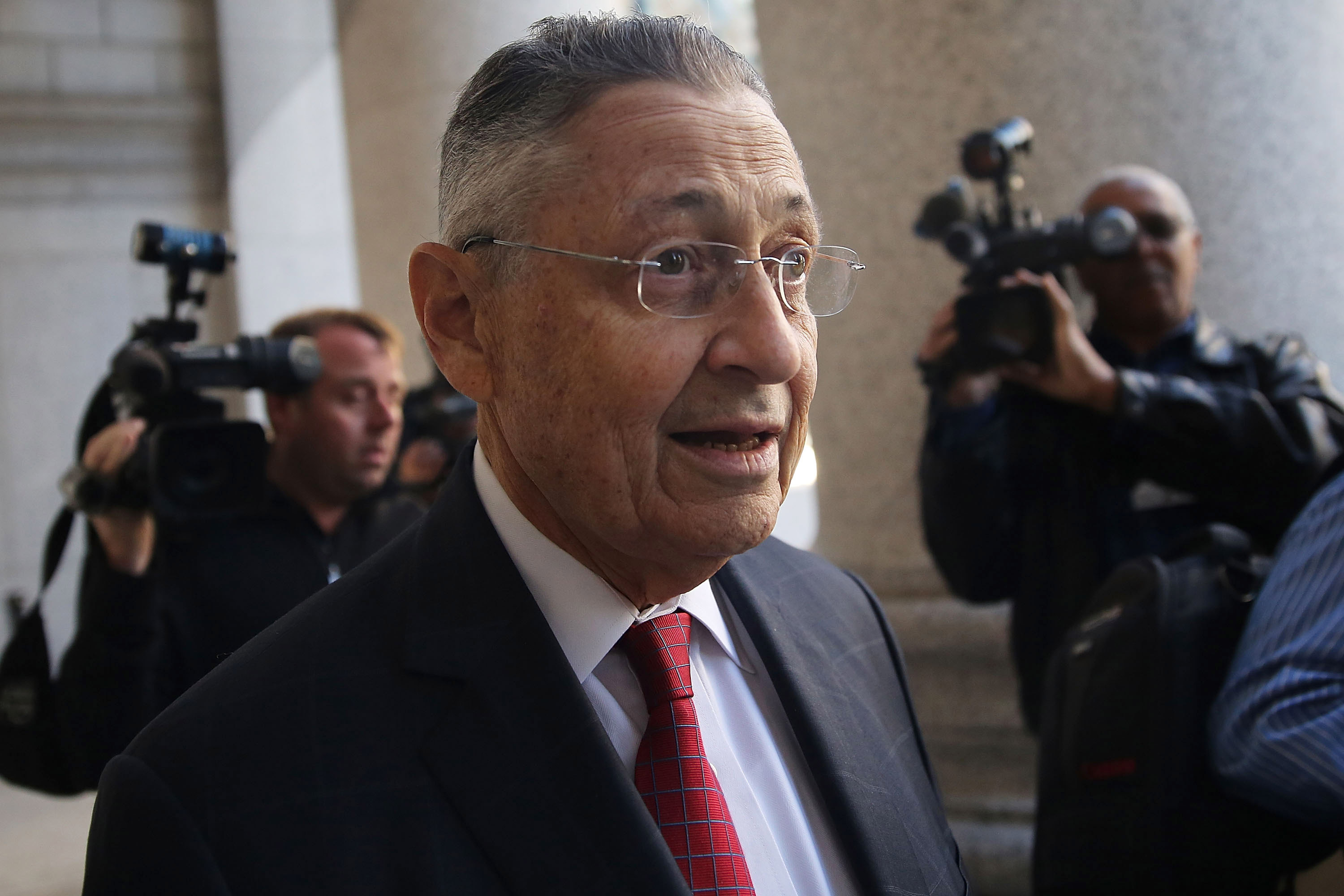 Former New York State Assembly Speaker Sheldon Silver arrives for his trial on November 3, 2015 in New York City. (Photo by Spencer Platt/Getty Images)